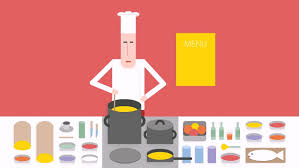Cooks In The Kitchen by Cook In The Kitchen Chef Cooks On The Stove Cartoon Footage On