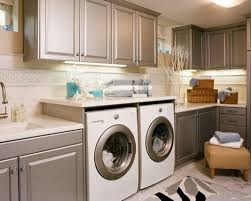 Inexpensive Cabinets For Laundry Room by Inexpensive Laundry Room Design Ideas With Neutral Wall Color