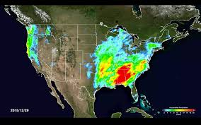 North America Precipitation Map by