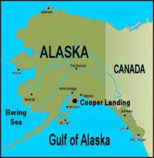 alaska on map kenai river and cooper landing alaska maps including the