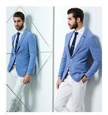 light blue jacket mens new design fashion party mens slim fit blazer suit jacket plus size