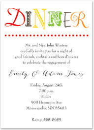 Dinner Party Invitations Simplistic Colorful Text Dinner Party Invitations Stationery