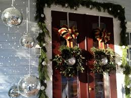 Christmas Decoration For Front Door by Our Victorian Front Porch Decorated For Christmas U0026 A Diy Bow