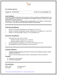 Example Of A One Page Resume by Example Of A One Page Resume