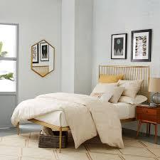 Brass Bed Frames Stella Metal Bed Brass West Elm