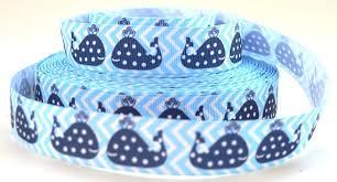 whale ribbon 7 8 whale ribbon blue polka dot whale on blue white chevron