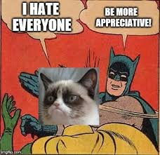 Meme Generator Batman Slap - batman slapping grumpy cat imgflip