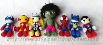 etsy crochet pattern amigurumi super heros set pdf amigurumi crochet pattern