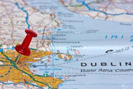 Map Of Dublin Ireland Pushpin Pointing Location Of Dublin On The Map Stock Photo
