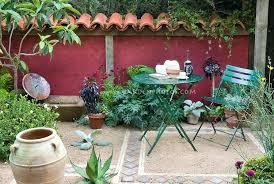 Mediterranean Roof Tile Mediterranean Style Garden Courtyard Patio With Terracotta Roof