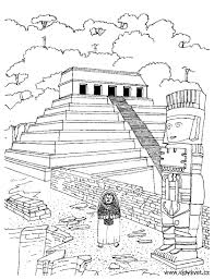 temple coloring page temple aztec mayans u0026 incas coloring pages for adults justcolor