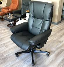 Stressless Mayfair Office Desk Chair Paloma Black Leather by Ekornes