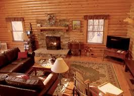 alpine log cabin great room