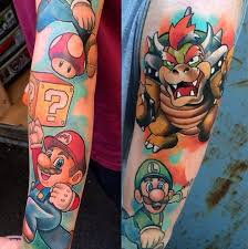 tattoos inspired by video games super mario tattoo com
