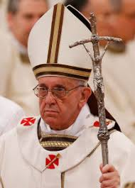 papal crucifix pope francis back to the crosier with crucifix cns