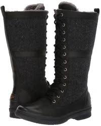 uggs womens boots zappos lyst ugg black mini boots in black save 42