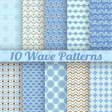 blue pattern background blue vintage backgrounds with marine wavy patterns vector clipart