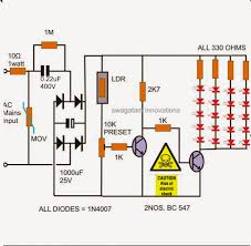automatic night light with sensor how to make a simple led automatic day night l circuit