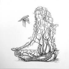 lotus dancer drawing by mark johnson