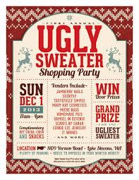 ugly sweater shopping party washington boutique vendors