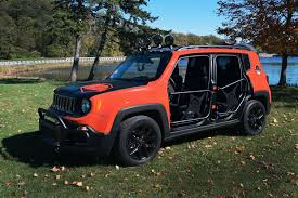 jeep renegade sema sneak peek new jeep renegade accessories motor city