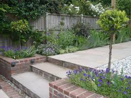 the type of steps we need in our garden from patio down to lawn