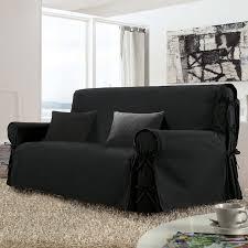 housses canapé housse de canapé 3 places stella noir housse de canapé eminza