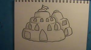 how to draw a sandcastle step by step how to draw faster
