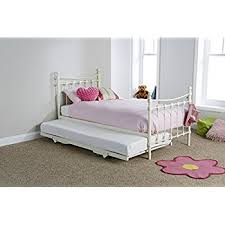 Single Bed Frame With Trundle Single Bed In White With Trundle Sleepover Bed 2 In 1