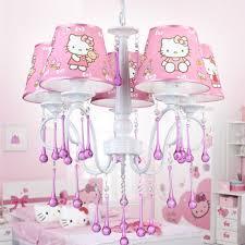 girls room chandelier children bedroom lamp hello kitty cat light