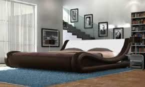 Curved Bed Frame Galactic Curved Bed Frame King Size Brand New Brown For Sale In