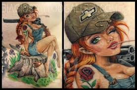 redneck irish rose pin up