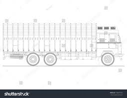 plan view coloring page classic indian truck plan stock vector 758699752