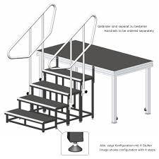 stufen treppe alustage modulare bühnen treppe 3 stufen 20 40 60 cm 251