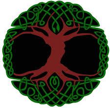 celtic tree of infinity knot tie dye tapestry bedspread