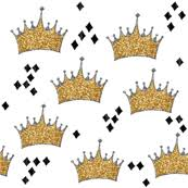 crown fabric wallpaper gift wrap spoonflower