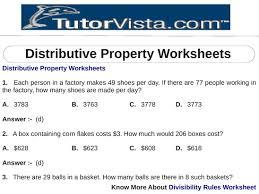 math properties worksheets u0026 distributive homework property worksheet