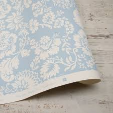 Hand Printed Wallpaper by Baroness Hand Printed Wallpaper Blue U2013 Liefalmont