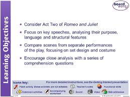 drama romeo and juliet act two scene 2 ppt download