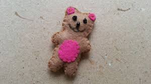 how to make a mini teddy bear soft toy diy crafts tutorial
