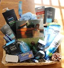 men u0027s grooming spa fathers day basket before cellophane holiday