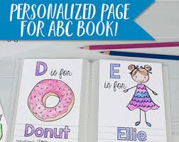 abc book template diy alphabet color baby shower activity