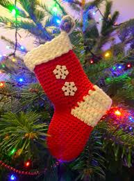 Crochet Christmas Stocking Tree Decoration by Christmas Stocking Free Crochet Pattern