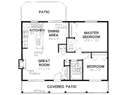 Floor Plan For Small House by Cabin Style House Plan 2 Beds 1 Baths 900 Sq Ft Plan 18 327