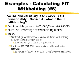W 4 Withholding Table Chapter 4 Income Tax Taxwithholding Developed By Lisa Swallow Cpa