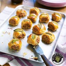 canapé cocktail sausage rolls delicious magazine