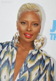 boycut hairstyle for blackwomen eva marcille s boy cut very short bleached hair that is close to