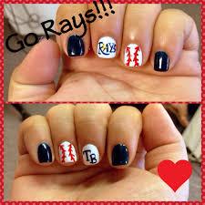 lexus tampa bay tampa bay rays nails i u003c3 baseball pinterest nail