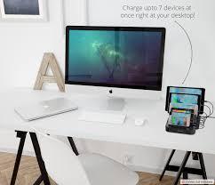 Desk With Charging Station Skiva Standcharger 7 Port 84w 16 8a Desktop Usb Fast Charging Station