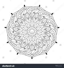 zentangle stylized elegant round indian mandala stock vector